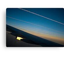 Air traffic lanes Canvas Print