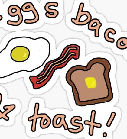 Eggs Bacon & Toast Sticker