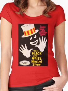 Black and White Minstrel show Women's Fitted Scoop T-Shirt