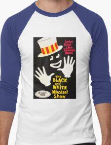 Black and White Minstrel show Men's Baseball ¾ T-Shirt