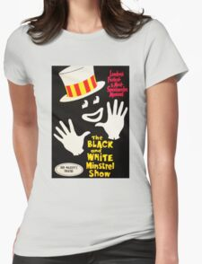 Black and White Minstrel show Womens Fitted T-Shirt
