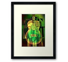 5161 Guitar with Face Framed Print