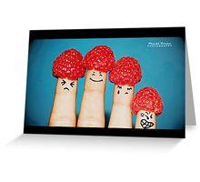 Finger Tattoo Greeting Card