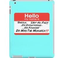 Mrs The Monarch iPad Case/Skin