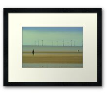iron men Spring at Crosby beach Framed Print
