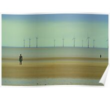 iron men Spring at Crosby beach Poster