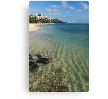 Waikiki Beach Sea and Sunshine Canvas Print