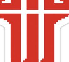 Pixel Wolfenstein Logo Sticker