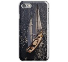 aerial photograph of sailboat iPhone Case/Skin