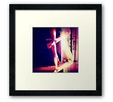 Red Heels Ghost Image II Framed Print