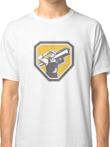 Construction Steel Worker Carrying I-Beam Retro Classic T-Shirt