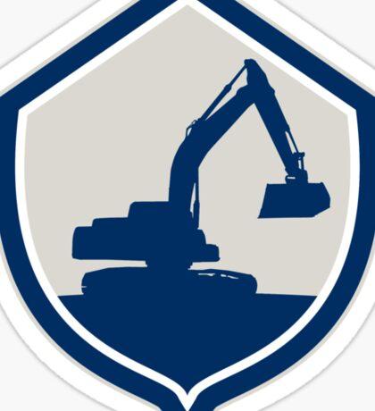 Mechanical Digger Excavator Shield Retro Sticker