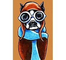 Boston Terrier Aviator Photographic Print