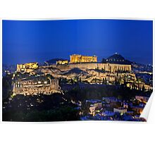 The Sacred Rock of Acropolis Poster