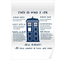 Tardis time traveler Poster