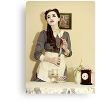 Undead Housewife. Canvas Print