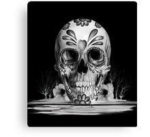 Pulled sugar, melting sugar skull  Canvas Print
