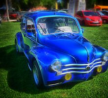 Ancient French Car Renault 4CV by jean-louis bouzou