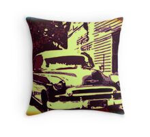 The Old Car Throw Pillow
