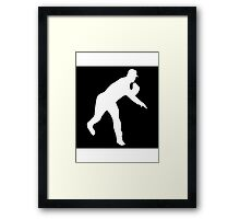 Baseball Pitcher Framed Print