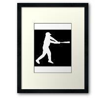 Baseball Batter Framed Print