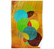 oil paint abstract Poster
