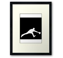 Baseball Fielder Framed Print
