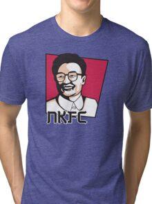 North Korean Fried Chicken Tri-blend T-Shirt
