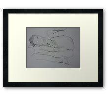 Knee Bends Framed Print