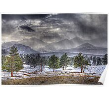 Rocky Mountains - Spring Storm Poster