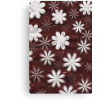 Melted Chocolate and Milk Flowers Pattern Canvas Print