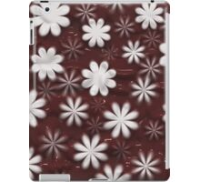 Melted Chocolate and Milk Flowers Pattern iPad Case/Skin