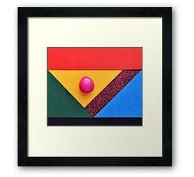 Egg abstract Framed Print