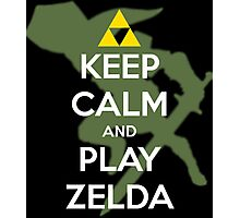 Keep calm and play Zelda! Photographic Print