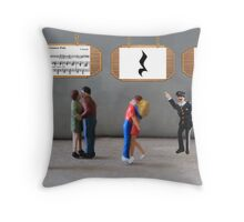 The dancing was uninterrupted until the policeman yelled, 'Stop—you're under a rest'! Throw Pillow