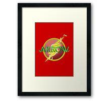 Arrow and Flash cross over Framed Print