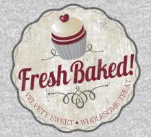 red velvet cupcake badge vintage grunge by BigMRanch
