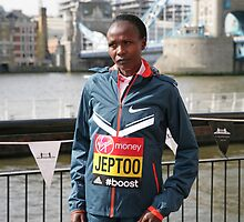 london Marathon   Priscah Jeptoo Kenya by Keith Larby
