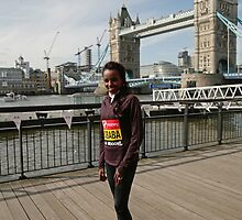 london Marathon  Tirunesh Dibaba    Ethiopia by Keith Larby