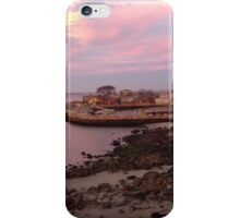 Sunset Over Seaside Town iPhone Case/Skin