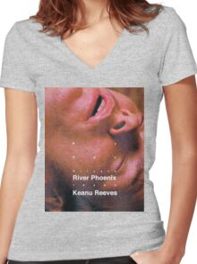 my own private idaho - upstream Women's Fitted V-Neck T-Shirt