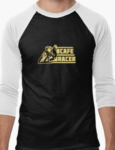 cafe racer vintage biker Men's Baseball ¾ T-Shirt