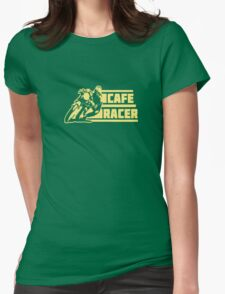 cafe racer vintage biker Womens Fitted T-Shirt