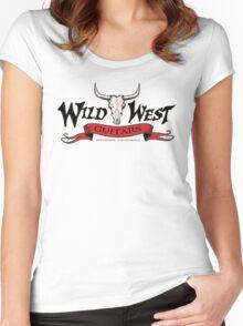 Wild West Guitars Bull Head Logo 2.0 Women's Fitted Scoop T-Shirt