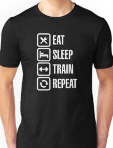 Eat sleep train repeat Unisex T-Shirt