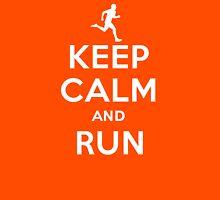 Keep calm and run Unisex T-Shirt