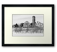 Winter Farm Scene Framed Print