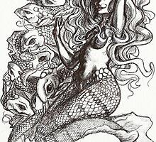 Mermaid and Koi by Phidius
