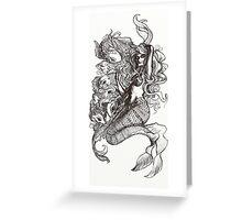 Mermaid and Koi Greeting Card