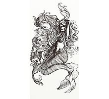 Mermaid and Koi Photographic Print